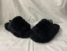 UGG Womens Fluffy Yeah Black Slippers Size 8
