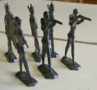 TOY LEAD SOLDIERS WITH GUNS AND FLAG UNPAINTED UNMARKED