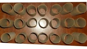 21 EMPTY BROWN TOILET PAPER ROLL CORES CRAFT SUPPLIES SEED STARTING TUBES ART