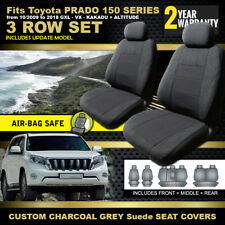 CUSTOM SEAT COVERS for TOYOTA PRADO 150 SERIES GXL 3ROWS 10/2009-2018
