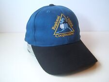 Regional Utility Cooperative USA Flag Hat Black Blue Hook Loop Baseball Cap