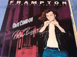 Peter Frampton Signed Autographed Breaking All The Rules Record Album LP