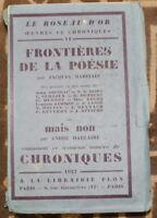 1927 ✤ Le Roseau d'Or / Chroniques N°3 ✤ beau Grand Papier Numéroté sur Pur Fil