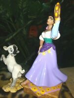 ESMERALDA,DJALI MATCHED CERAMIC FIGURINES,HUNCHBACK NOTRE DAME,NEW MINT,w/Stckrs