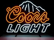 New Coors Light Beer Pub Bar Neon Sign 17''X14'' BE132S ship from USA