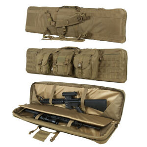 """36"""" 42"""" Padded Double Rifle Oxford Tactical Gun Bag Backpack Carry Case 3Colors"""