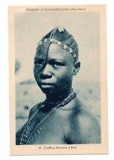 BURKINA FASO, AFRICA, WOMAN OF BEM PROVINCE, COIFFURE, JEWELRY c. 1904-14