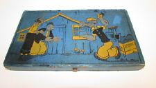 VINTAGE  POPEYE  pencil box  EAGLE 9097  C. 1933  NICE  WIMPY  OLIVE OYL