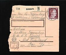 Germany 60 p Hitler Definitives THREE DIFFERENT Paket Package Cards 1944 c 1y