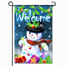 Anley Welcome Winter Garden Flag Snowman Gifts Christmas Decorative 18x12.5 Inch
