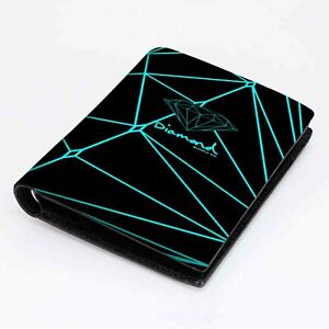 new diamond supply wallet black leather card money holder twin side