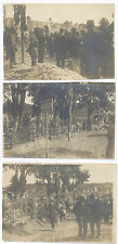 C. 1919 3 PHOTOS: HYERES LES PALMIERS, FRANCE MILITARY CEMETARY BY  J. BAGARRY