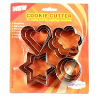 12 Pcs Biscuit Mould Cookie Cutter Sugarpaste Cake Decorating Pastry Tools Metal
