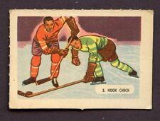 1946 KELLOGG'S ALL- WHEAT HOCKEY CARD SPORT - TIPS # 3 HOOK CHECK