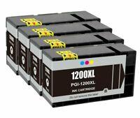 4Pk PGI1200 PGI-1200XL Black Ink Cartridge For Canon MAXIFY MB2020 MB2320 MB2720