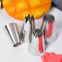 4Pcs Large Cream Icing Piping Nozzle Tips Set Pastry Cake Decor Baking Tools