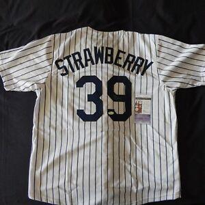 Darryl Strawberry signed MLB JERSEY / 3X World Series Champion / JSA