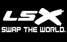 LSX Swap The World - Vinyl Decal - White - Chevy LS Car Truck Track Sticker