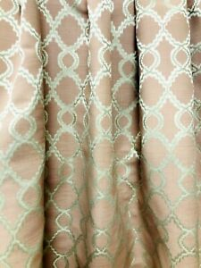 Gold Dusk Pink Art Deco floral pattern Curtain Fabric Material 137cm wide BR050