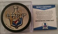BECKETT COA DAVE TIPPETT ARIZONA COYOTES SIGNED NHL RARE PUCK 2012 STANLEY CUP