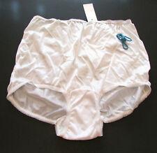VTG NOS USA Made Silky Nylon Full Cut Granny Briefs Panties Cotton Gusset sz 7
