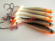 Drop shot lures 9 cm long with jig heads - perch, pike, zander fishing