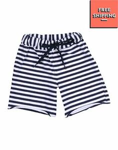 LE BEBE Jogger Shorts Size 6M Two Tone Striped Pattern Made in Italy