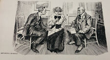 HARRY W RICHARDSON ORIGINAL EARLY DRAWING TITLED A DIFFICULT JOB 057