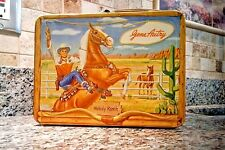 VINTAGE 1954 GENE AUTRY LUNCHBOX  BY UNIVERSAL  EXCELLENT TO NEAR MINT CONDITION