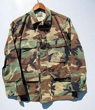 Vintage Camo Jacket Shirt Camouflage Combat Military Bdu Woodland Short Small