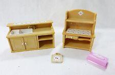 Vintage epoch dollhouse furniture miniatures kitchen sink and hutch