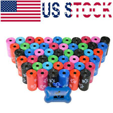 New listing Dog Poop Bags for Pet Waste, Clean Up Refills on a Roll (10 Rolls & Colors)
