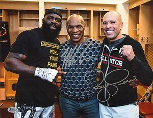 Mike Tyson Royce Gracie Signed 11x14 Photo BAS Beckett COA UFC Picture Autograph