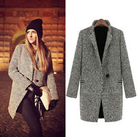 Fashion Warm Overcoat Trench Outwear Winter Long Wool Cashmere Parka Coat Jacket