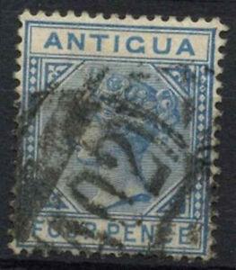 Antigua 1882 QV SG#23, 4d Blue Wmk CA Used #A95184