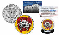 SKULL Official Legal Tender JFK Kennedy Half Dollar U.S. Coin - Triple Skulls
