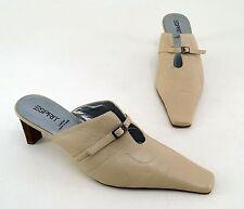 Damen-Pumps mit Blockabsatz im Pantoletten-Stil aus Echtleder für Hoher Absatz (5-8 cm)