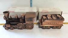 Americana Antique Coin Banks Steam Train Engine With Wood Car, W&ARR, With Boxes