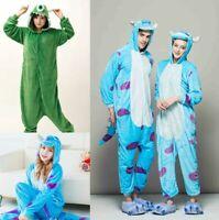 Adult Monsters University Mike Wazowski&sulley Costume Pajamas Cosplay Fleece US