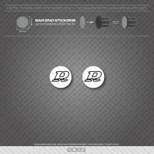 6083 - Rossi Bicycle Handlebar Bar End Plug Stickers - Decals