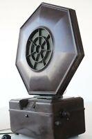 Philips Bakelit-Radioempfänger Typ 2531 + Bakelit-Lautsprecher Typ 2109, um 1930