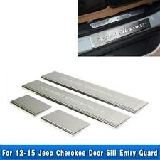 4Pcs Door Front Rear Sill Protector For Jeep Grand Cherokee 2011-2020