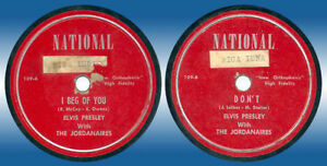 Philippines ELVIS PRESLEY 78 rpm I Beg Of You NATIONAL