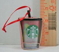 New Starbucks  Multi color Glitter  Holiday Christmas Ornament 2018