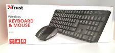 TRUST 21133 Ximo Tastatur und Maus 1600 dpi für Win10 / MAC, Schwarz , NEU / OVP