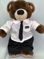 BUILD-A-BEAR LDS MORMON MISSIONARY BEAR CLOTHES OUTFIT SUIT & TIE WHITE SHIRT C1