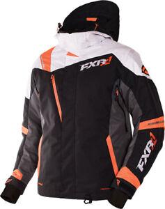 FXR™ Men's Mission X Black/White/Orange Snowmobile Jacket 170008-1002-XX