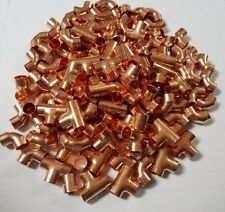 100 X 15mm end feed Mixed Copper Fittings Elbows, Tee, Straight