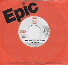 ARGENT  Man For All Reasons  rare promo 45 from 1974  THE ZOMBIES
