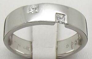 SOLID PLATINUM NATURAL DIAMOND MENS WEDDING BAND/DRESS RING SIZE W - VALUE $4108